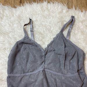torrid Intimates & Sleepwear - Torrid Longline Lace Bralette Gray Silver 2X